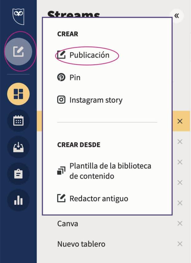 Crear una publicación en Hootsuite
