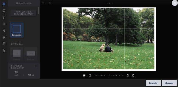 Editar imagen de Instagram en el tamaño correcto y agregar filtros