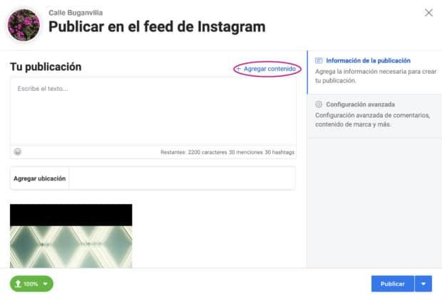 Uso de Creator Studio para programar publicaciones de Instagram: agregar contenido con varias fotos o videos