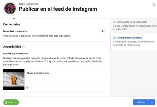 Uso de Creator Studio para programar publicaciones de Instagram: configuración avanzada