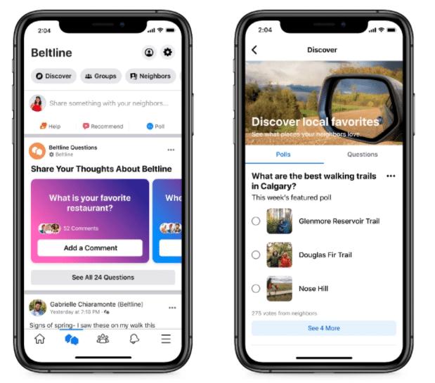 facebook neighborhoods app