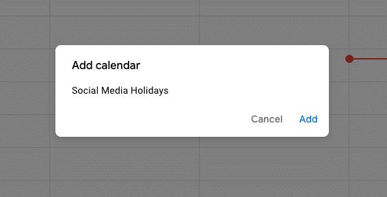 Instructions on adding social media holiday calendar to Google account 2