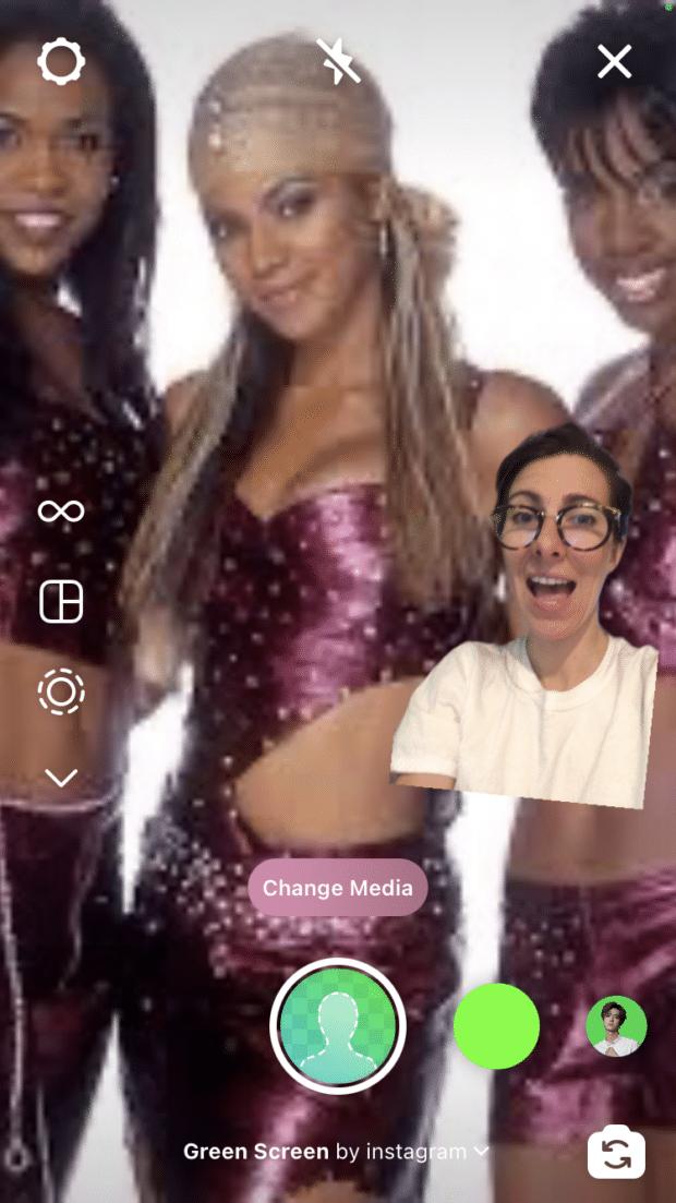 green screen backdrop Destiny's Child tour