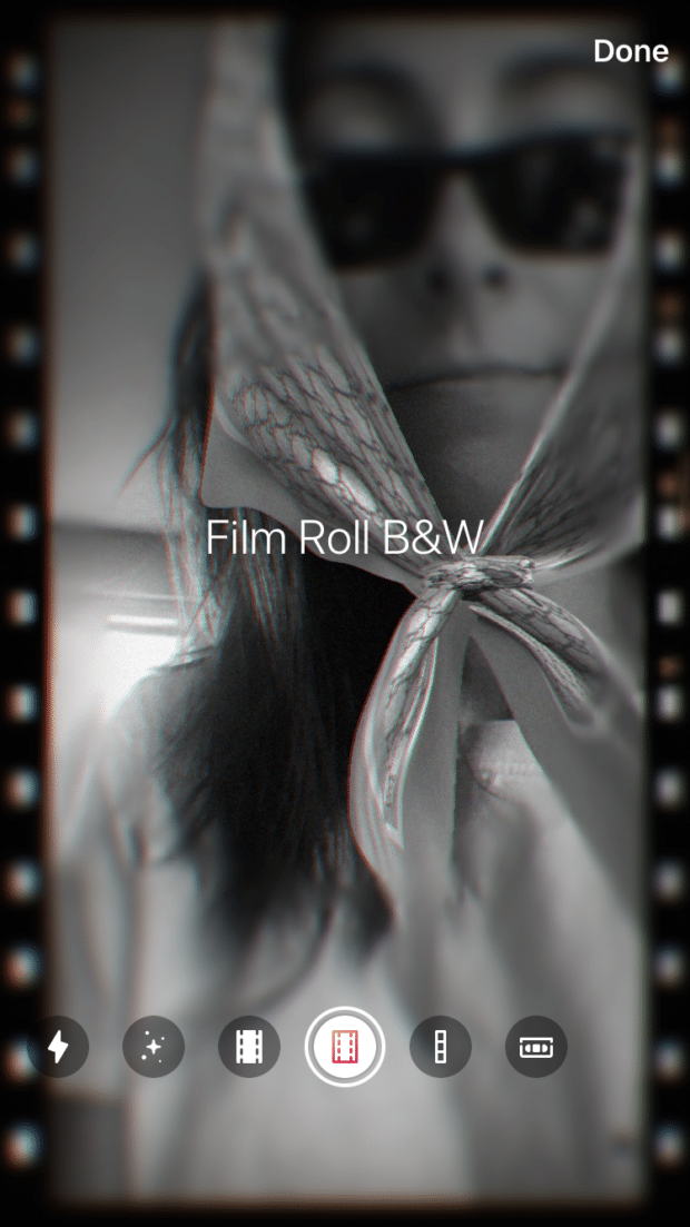 film roll B&W photo booth feature