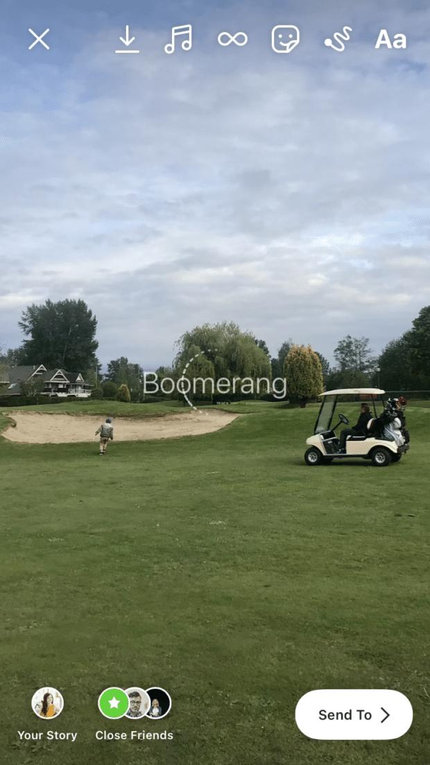 golf course boomerang live photo