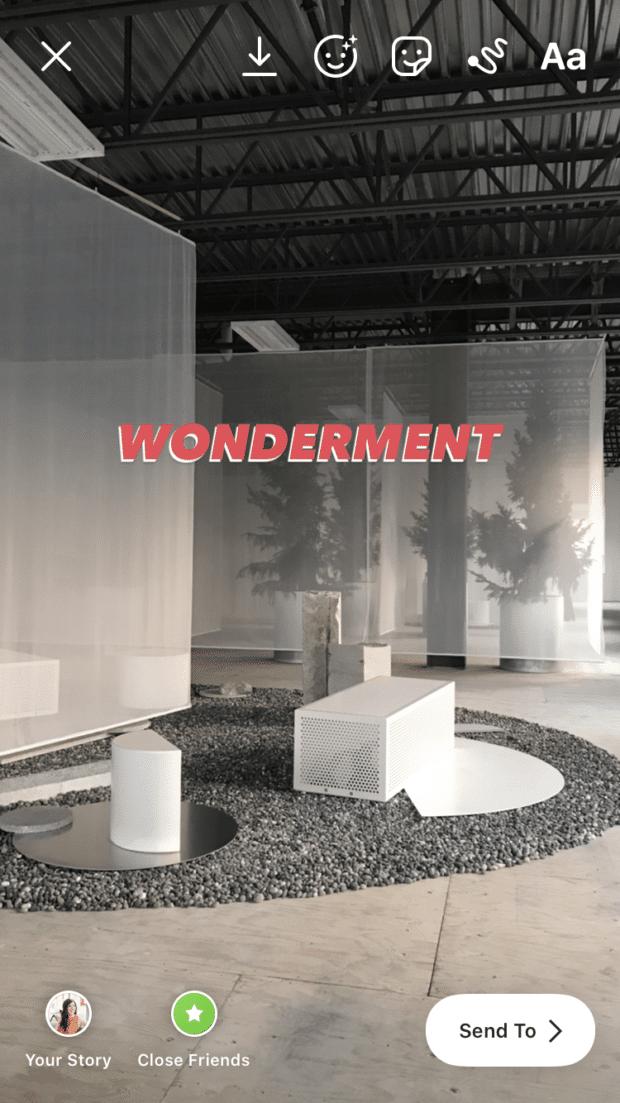 wonderment shadow effect layered text