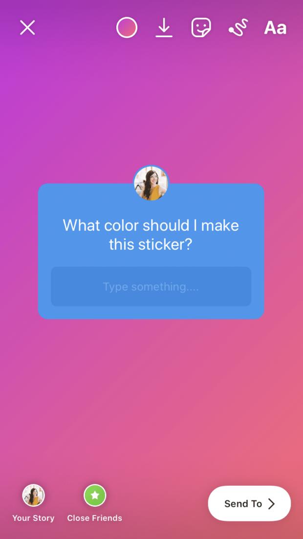 question sticker color change