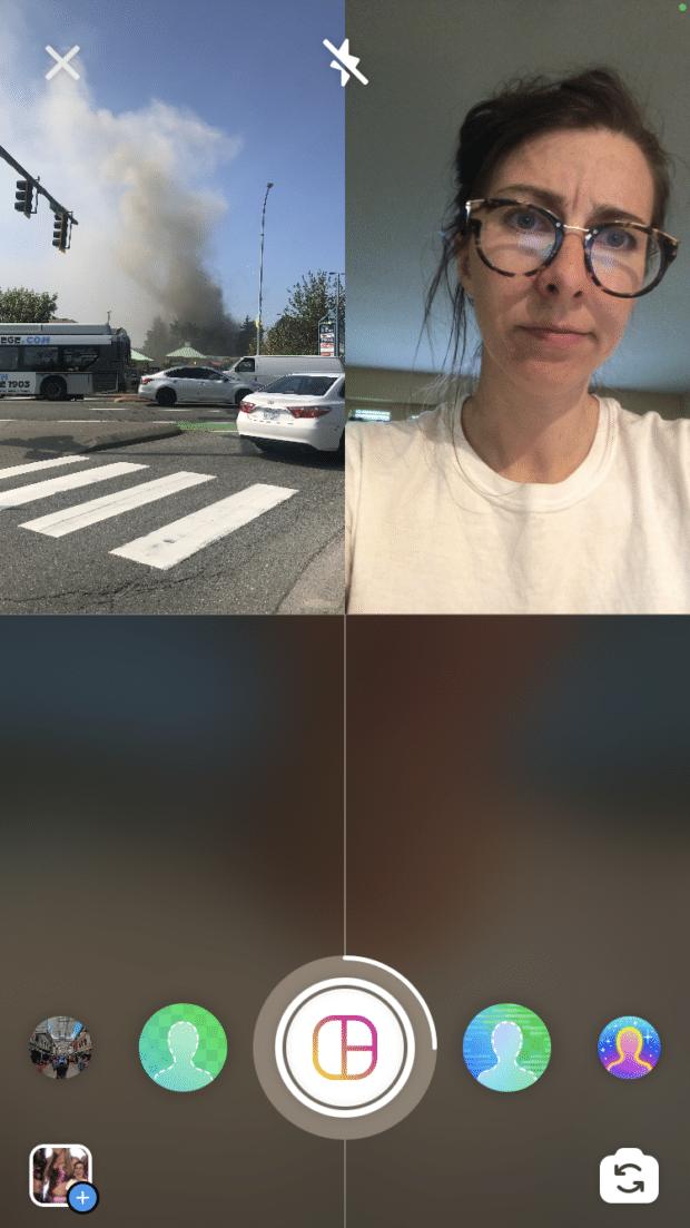 photo grid on Instagram story
