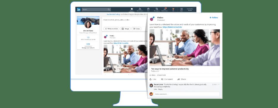 LinkedIn ads sponsored content