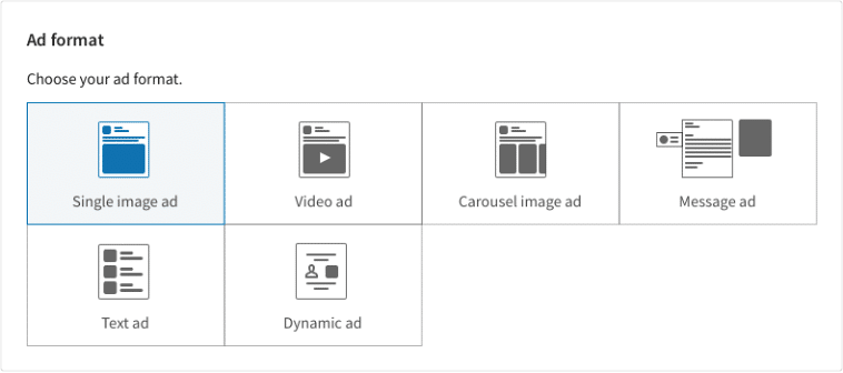 ad format options