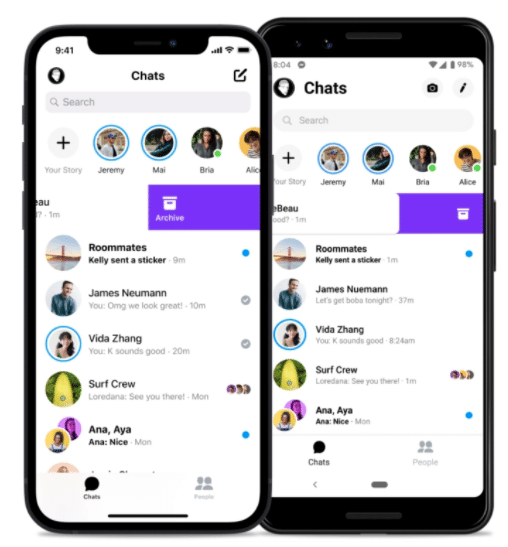 Messenger archived threads feature