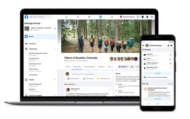 Admin Home, Facebook's new dashboard for group admins and moderators