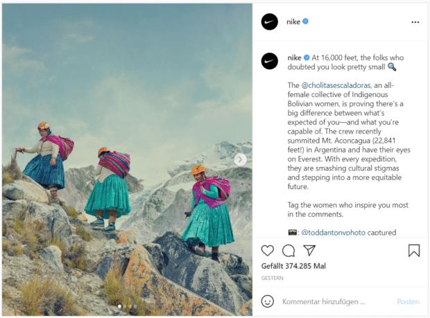 Nike präsentiert bolivianische Bergsteigerinnen – in fast 5.000 Meter Höhe