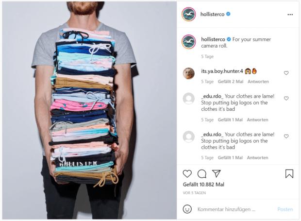 Hollister präsentiert die Mode, mit der man sich diesen Sommer auf Instagram präsentieren kann.