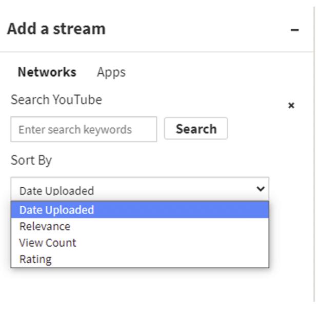add a stream sort by date uploaded