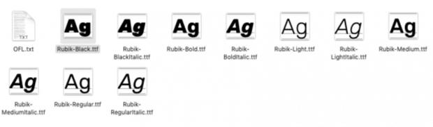 installing Google font on your desktop - editing a custom social media manager resume