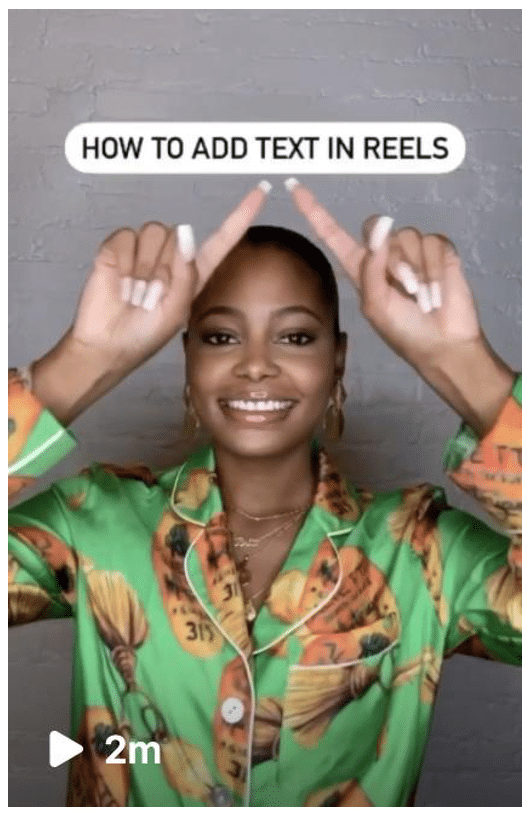 how to add text in Instagram Reels