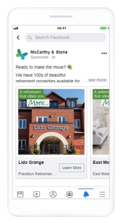 McCarthy & Stone Facebook lead ads