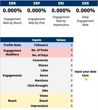 engagement rate calculator screenshot