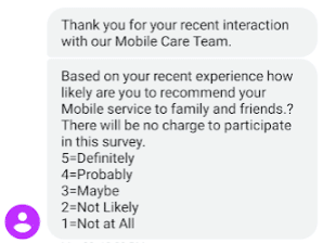 cell phone provider unclear text message