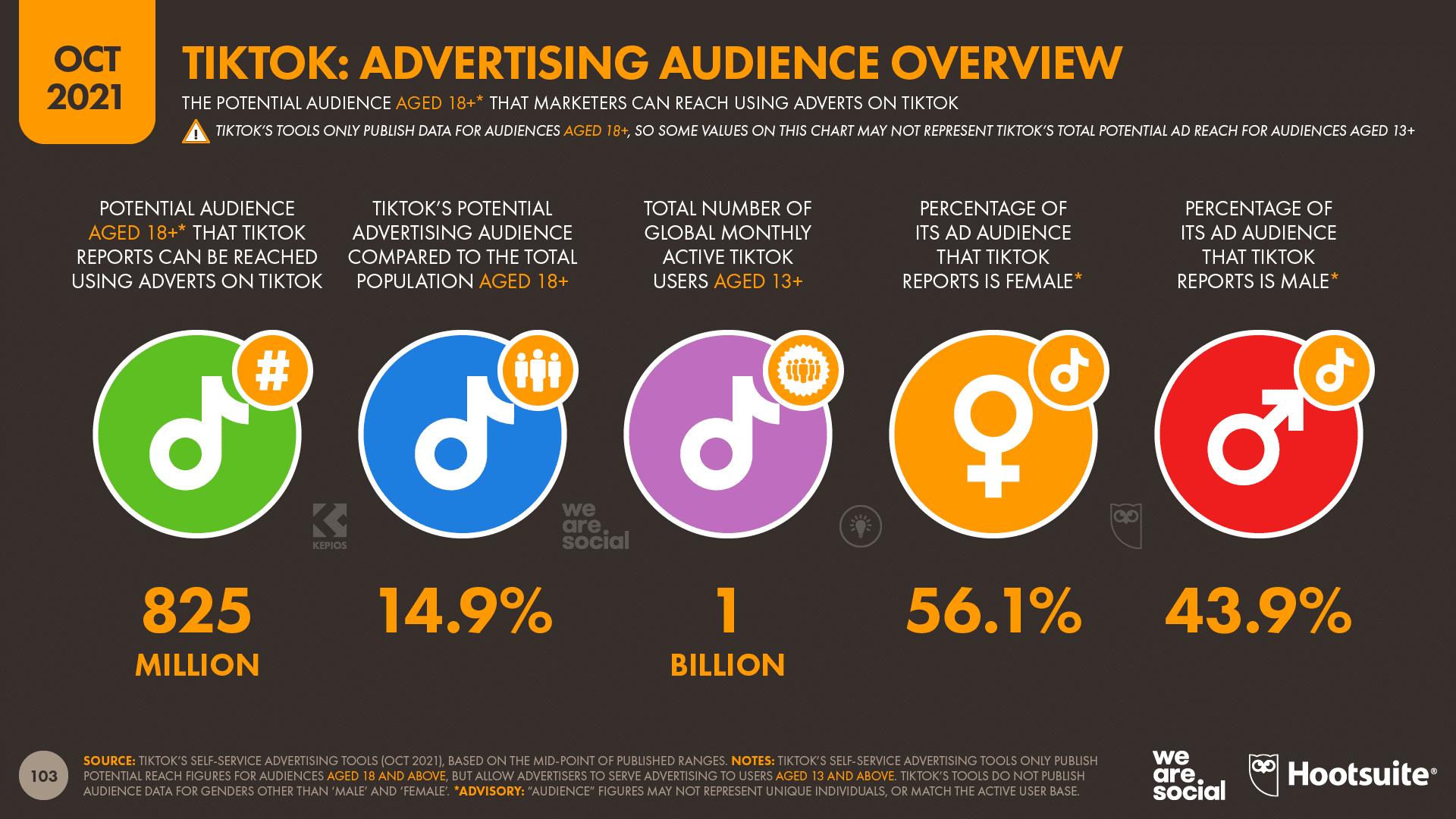 chart showing TikTok Advertising Audience Overview