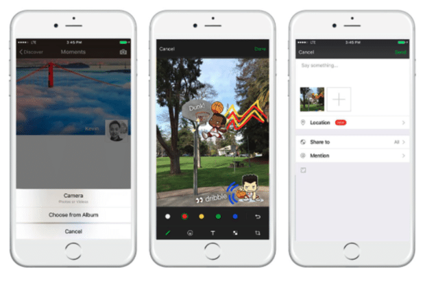 WeChat moments sync to other platforms