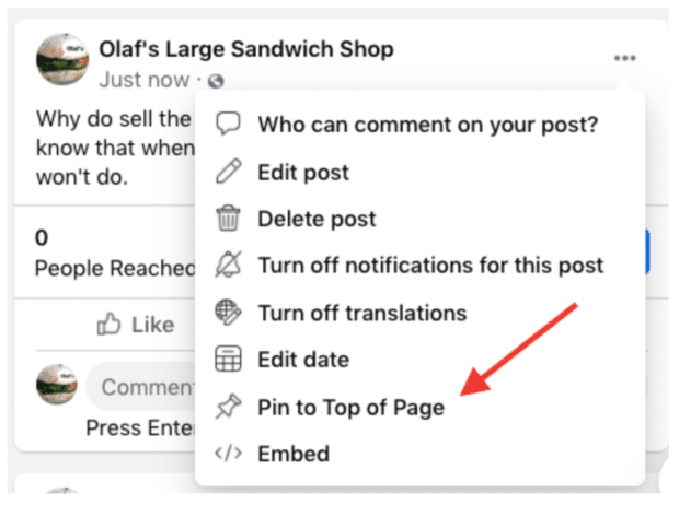 pin post to top of page
