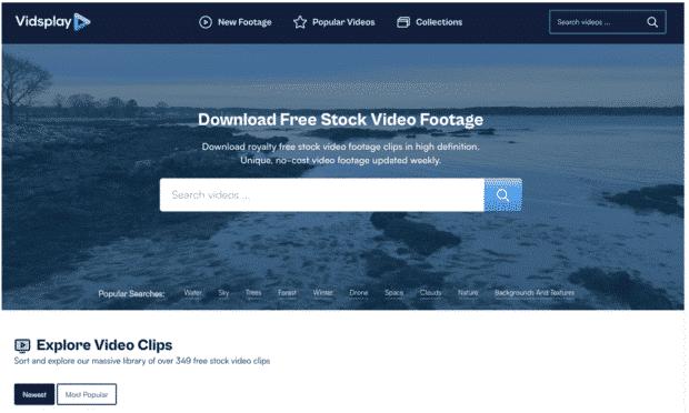 Vidsful downloads free stock footage