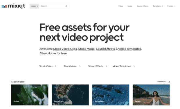 Mixkit free resources for your next video project