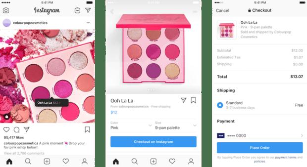 Color Pop Cosmetics Instagram shop makeup