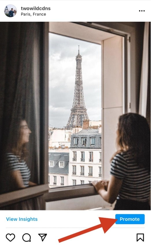 Eiffel Tower post promote in app