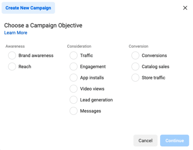 choose campaign objective