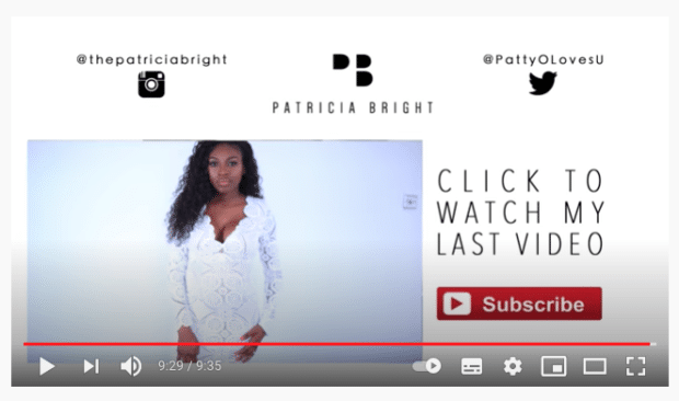Patricia Bright like and subscribe call to action