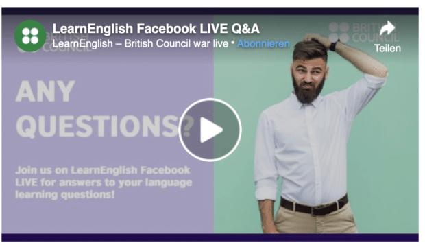Live Q&A-Session des British Council zu Englischsprachkursen