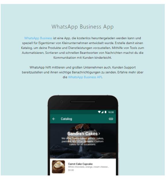 Wo Sie die WhatsApp Business App herunterladen können