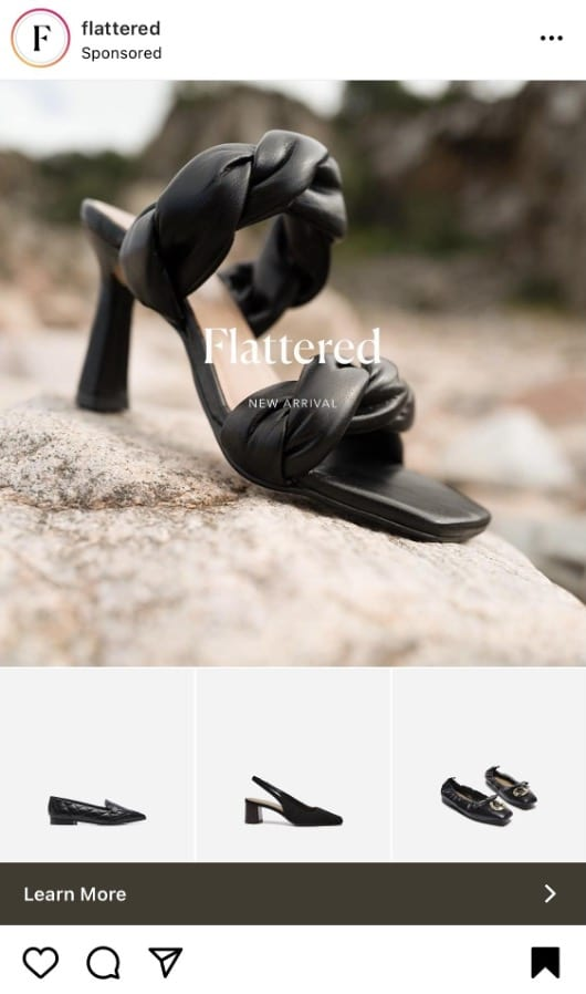 flattered high heel collection ad