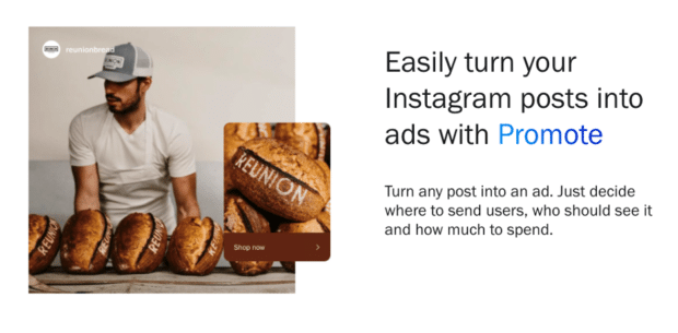 turn Instagram ads into posts with Promote
