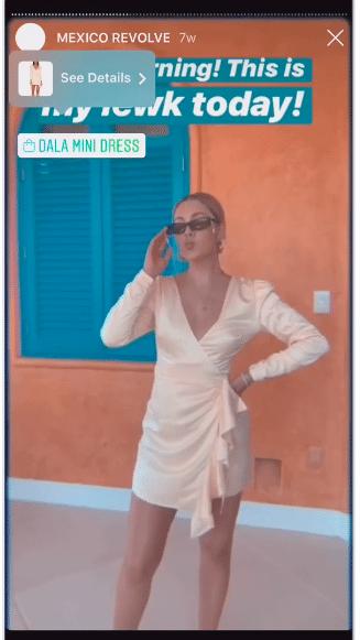Mexico Revolve Dala mini dress product sticker