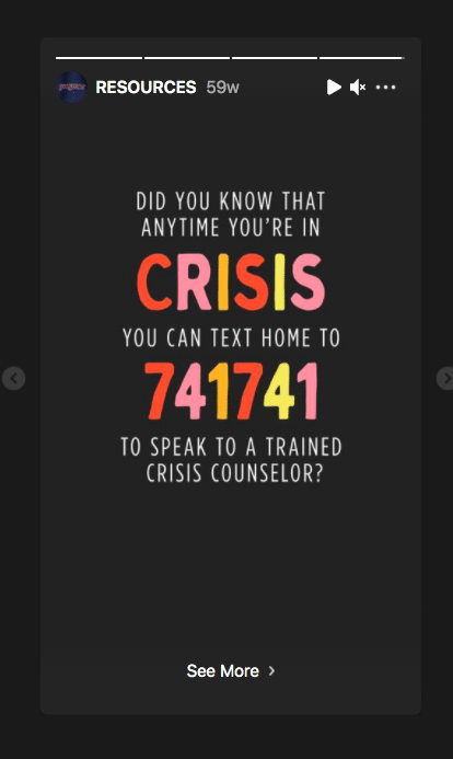 JanSport crisis support phone number