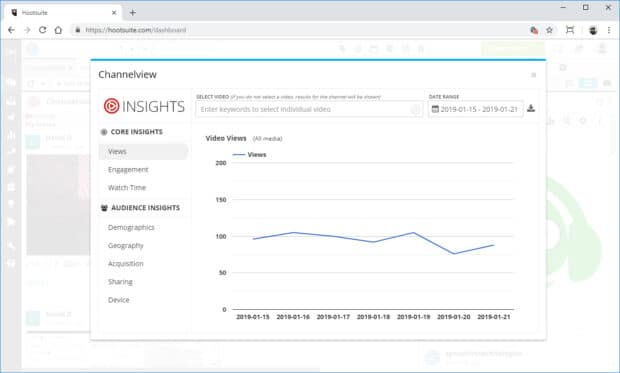 YouTube analytics with Channelview app