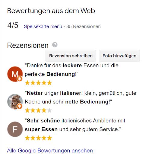 Google My Business Bewertungen