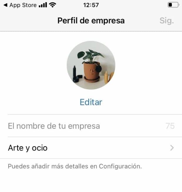 Editar un perfil en WhatsApp Business