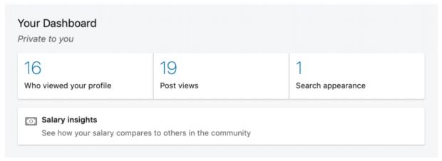 profile analytics under your dashboard