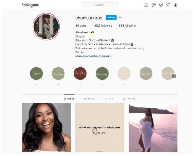 shanisunique educator and doctoral influencer Instagram nano influencer