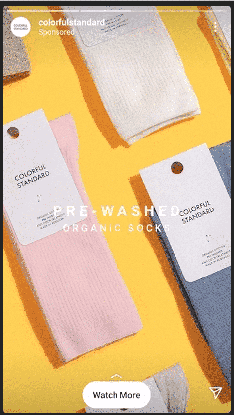 Colorful Standard pre-washed organic socks bright yellow background