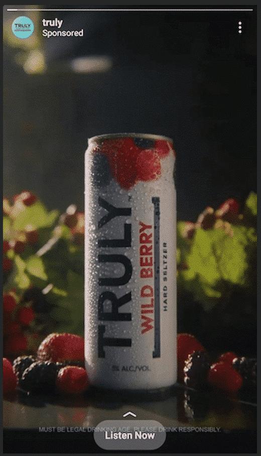 Truly Hard Seltzer wild berry