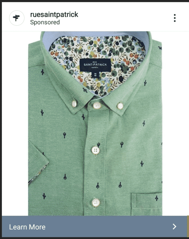 Rue Saint Patrick green shirt