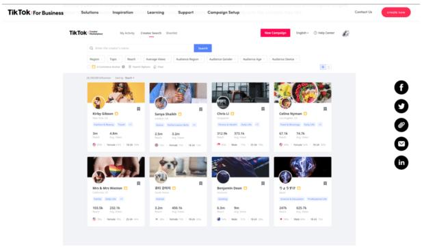TikTok for business creator marketplace