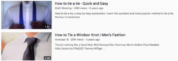 how to tie a tie important information