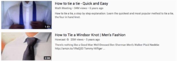 wie man eine Krawatte bindet wichtige Informationen